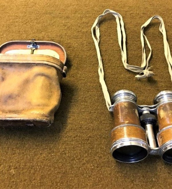 Vintage French Binoculars with built in Compass