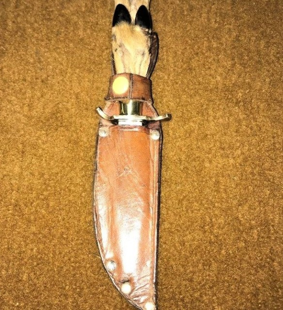 Deer Hoof Handle Sheath Knife
