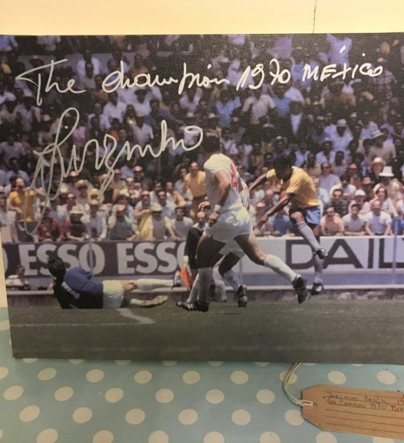 Signed Print of Jairzinho Brazil
