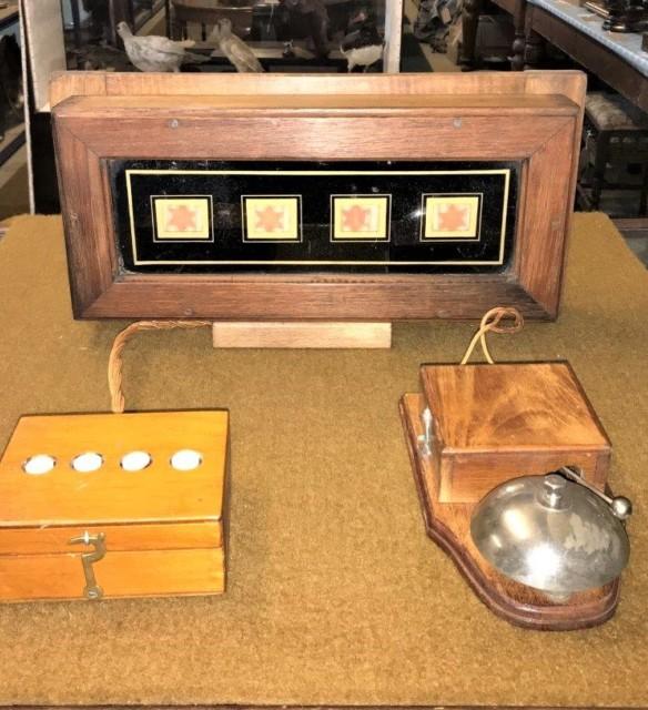 Vintage  4 Gang Butlers Bell Box Set