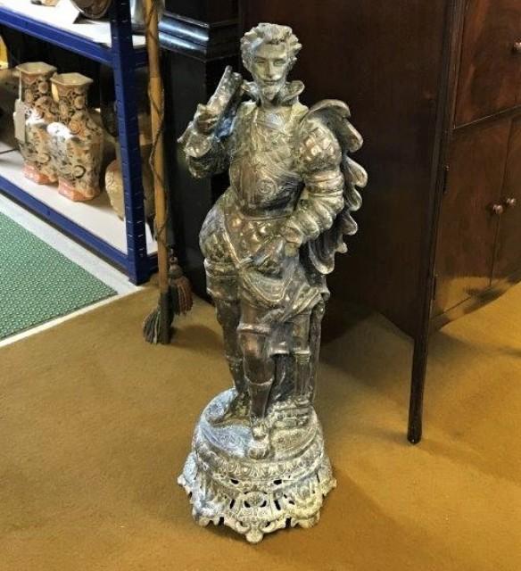 Bronzed Spelter Sculpture of Sir Walter Raleigh