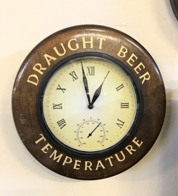 Draught Beer Temperature Clock / Thermometer
