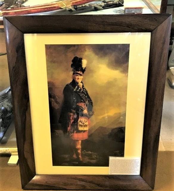 """The MacNab"" Print In Rosewood Frame"