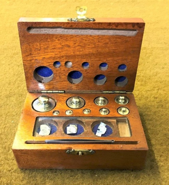 Vintage Boxed Set of Pharmacy Weights
