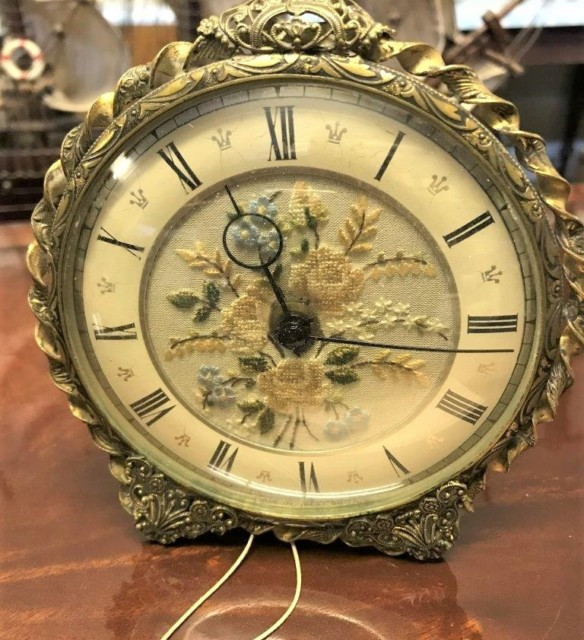 Ornate Brass / Copper Mantel Clock