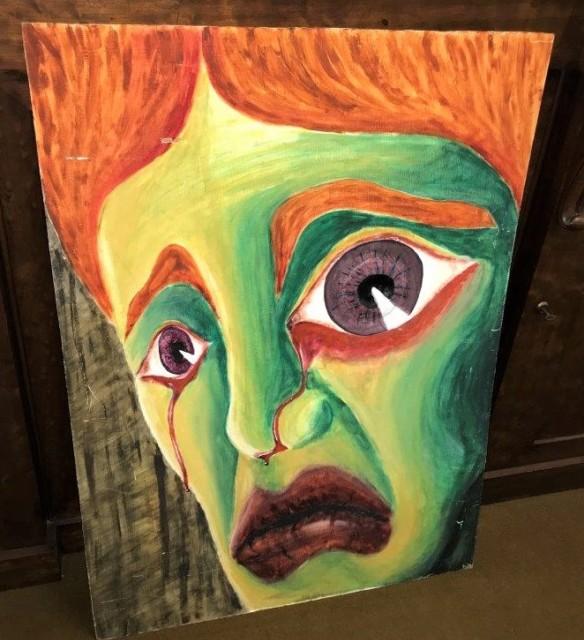 "Watercolour Painting on Board ""Raised Eye"""