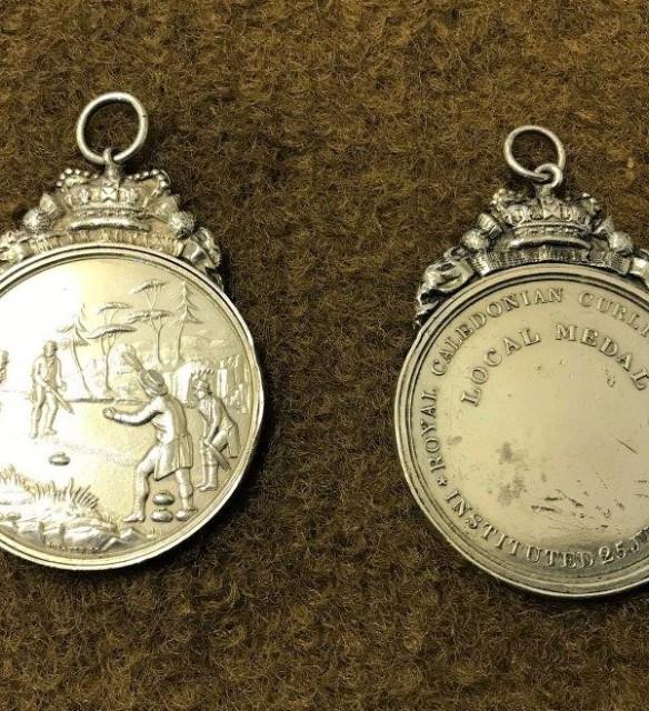 Pair Royal Caledonian Curling Club Medals