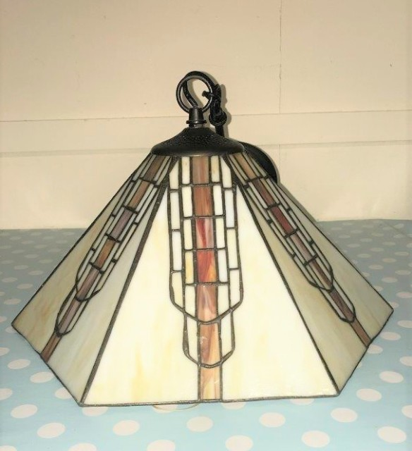 Tiffany Style Hexagonal Ceiling Light Fitting