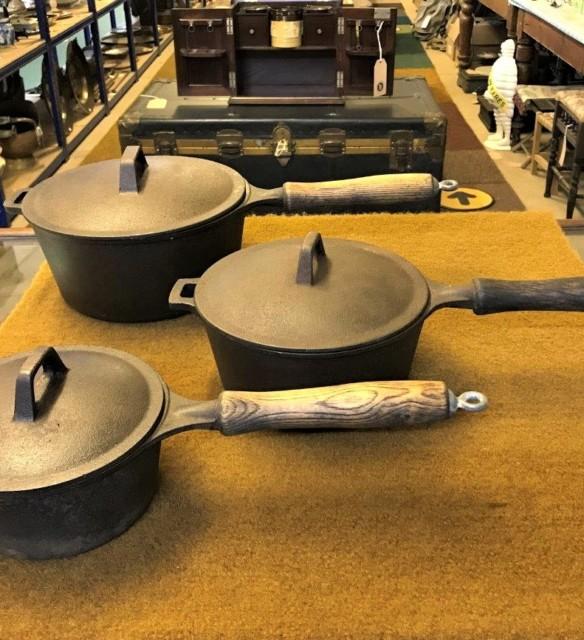 Trio of Cast Iron Pans