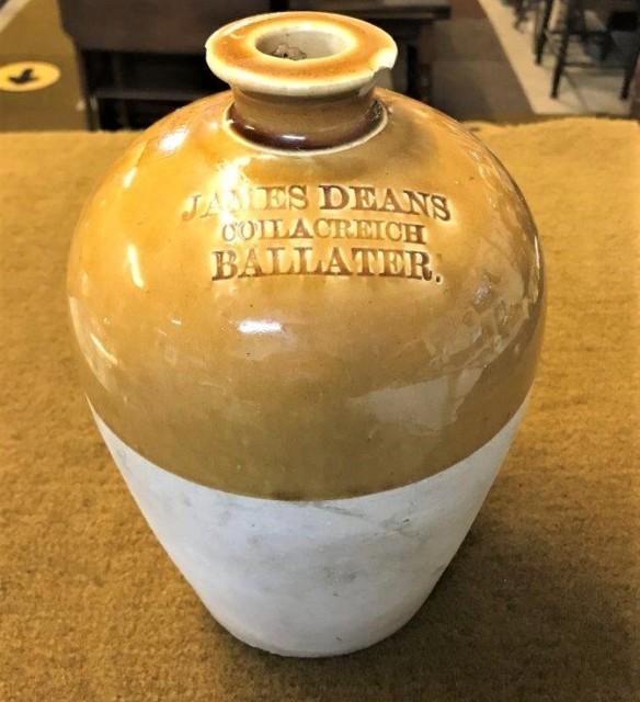Antique Whisky Flagon J Deans Coilacreich Ballater