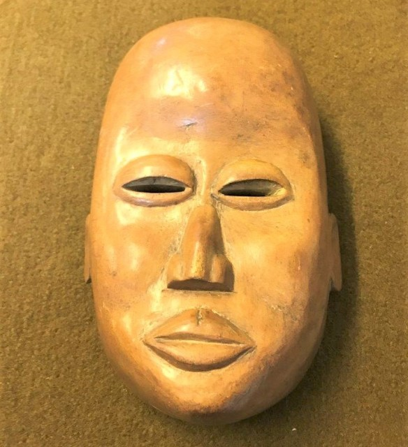 Vintage African Wooden Face Mask