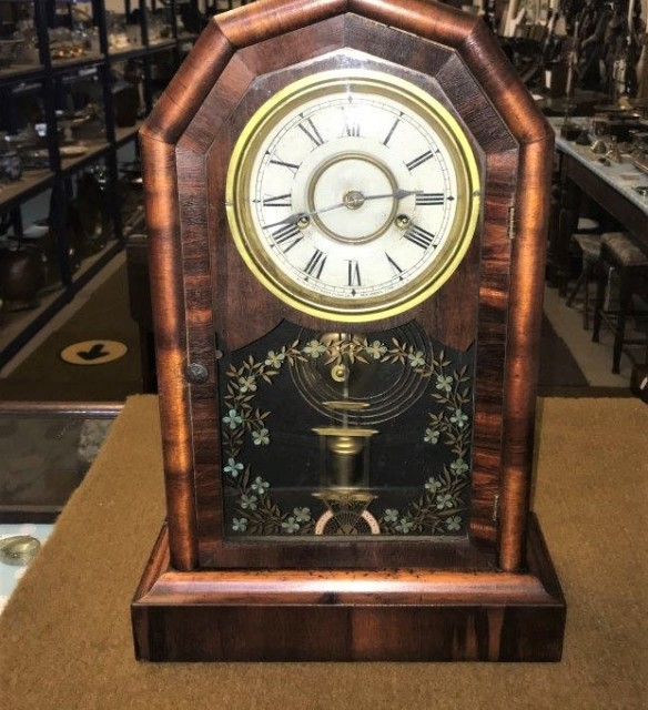 New Haven Octagon Prize Mantle Clock