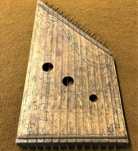 Antique Hand Made 12 String Zither / Lap Harp
