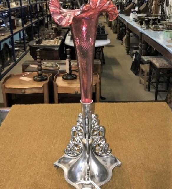 Cranberry Glass Epergne15