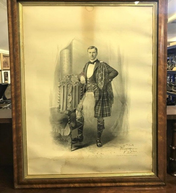 Signed Print of Sir Donald Walter Cameron of Lochiel 25th Chieftain of Clan Cameron