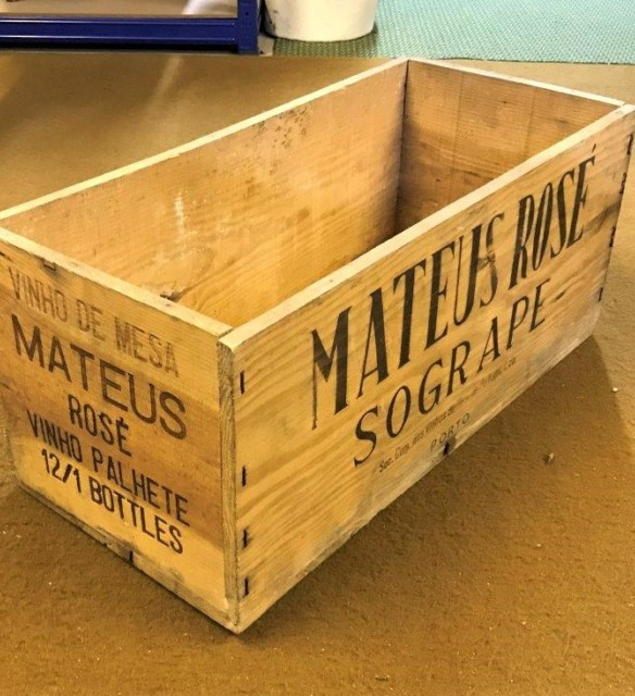 Vintage Mateus Rose Crate