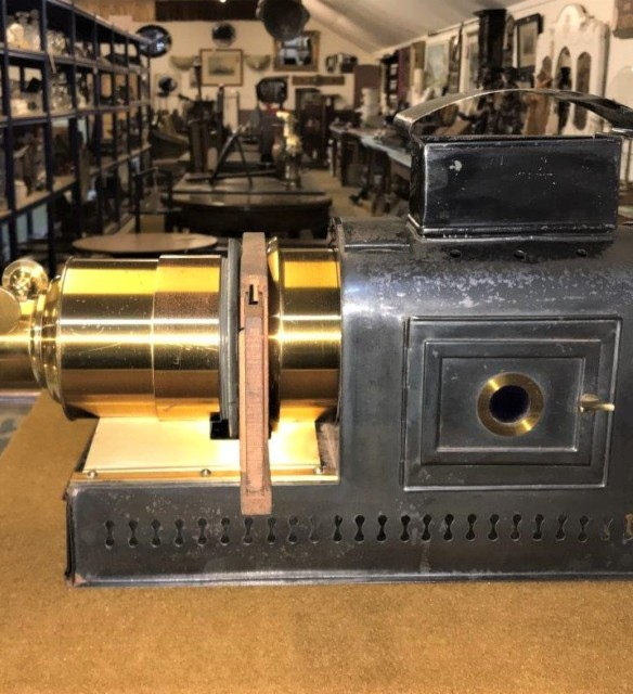 Antique Magic Lantern Slide Projector