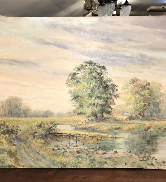 "Oil Painting R.O. Dunlop ""Towards Arundel Limpingwoody"""