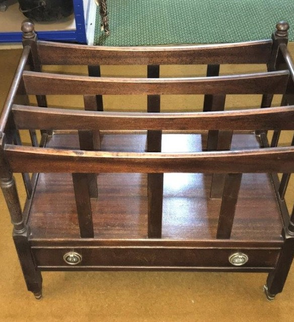 Retro Mahogany Magazine Rack