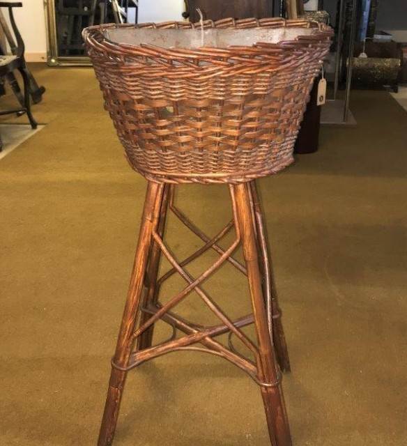Wicker Planter Stand