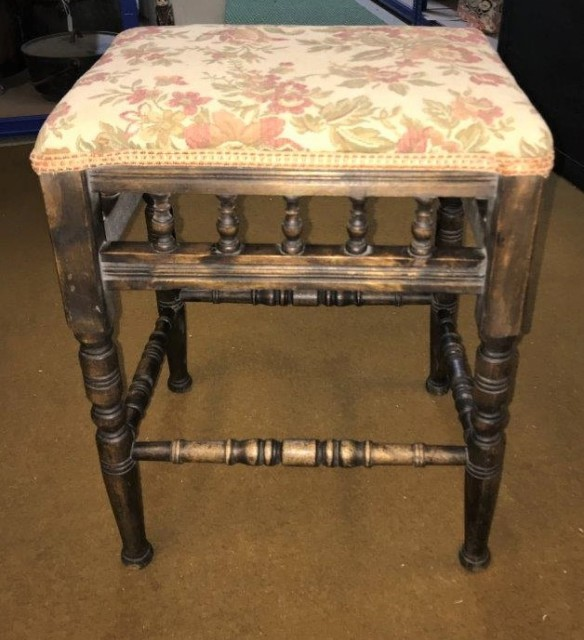 Piano Stool Fabric Topped