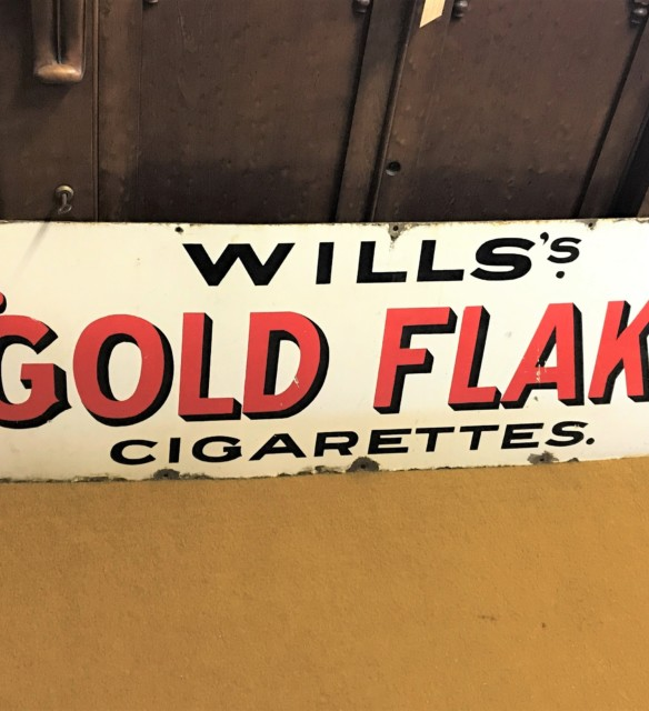 """Will's """"Gold Flake"""" Cigarettes Enamel Sign"""