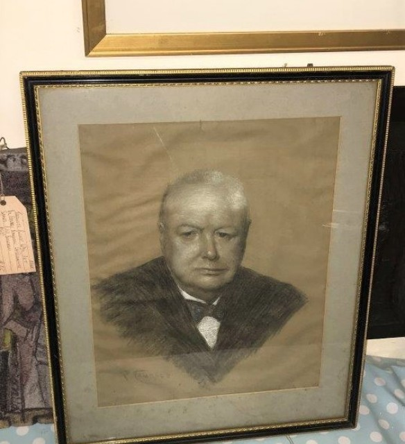 Winston Churchill Drawing