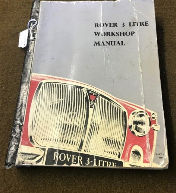 Rover 3 Litre Workshop Manual