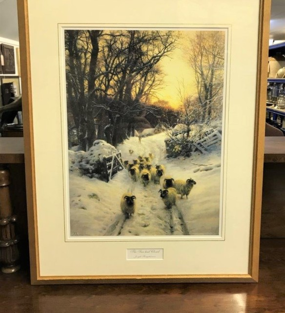 "Framed Joseph Farquharson Print ""The Sun Had Closed"""