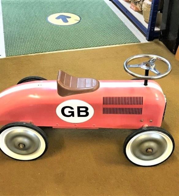 Vintage Child's Push Along Racing Car