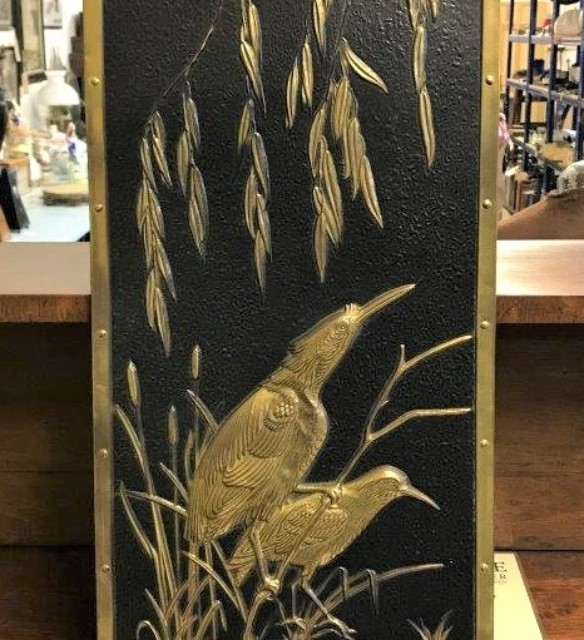 Brass Repousse Birds Wall Art
