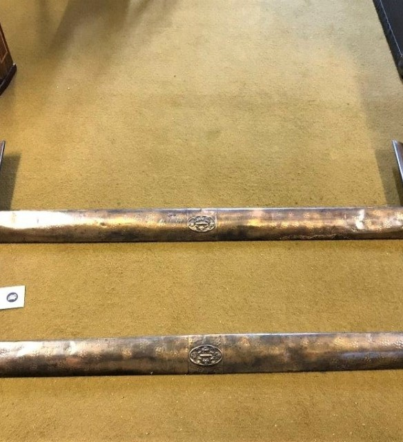 Pair of Copper Arts & Crafts Fire Fender