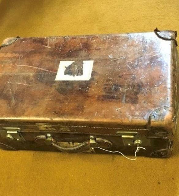 Medium Size Leather Suitcase
