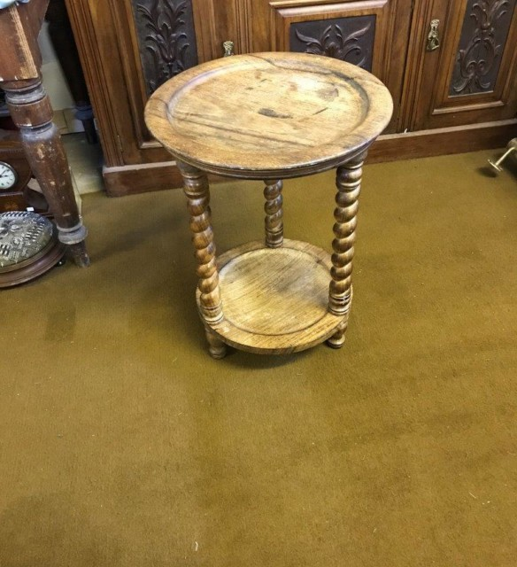 Round Oak Occasional Table