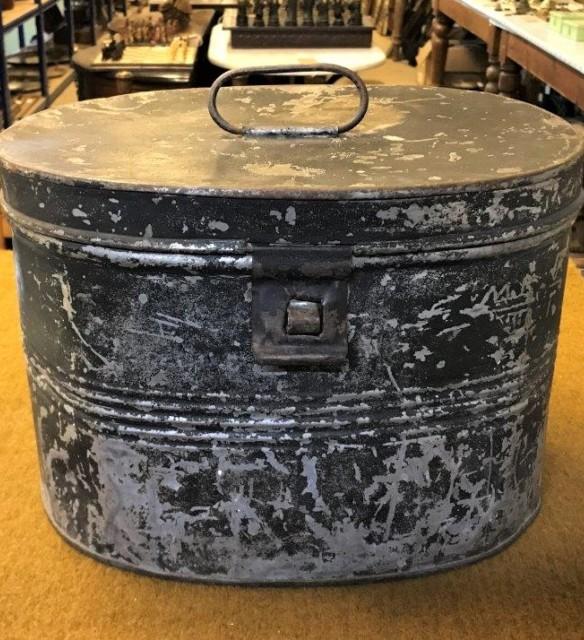 Metal Hat Box