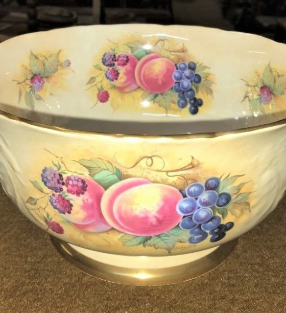 "Crown Staffordshire Bowl ""Orchard Glory"""