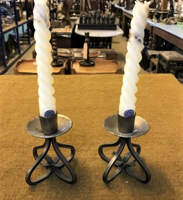 Pair Swedish Candle Holders
