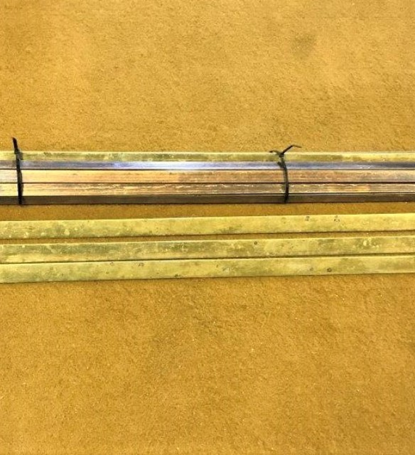 "Vintage Brass Stair Rods ""Pellets Trefoil"""