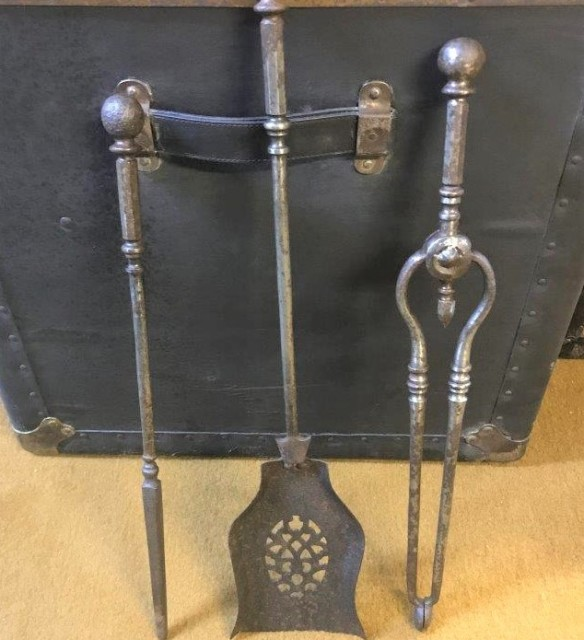Antique Steel Fireside Companion Set