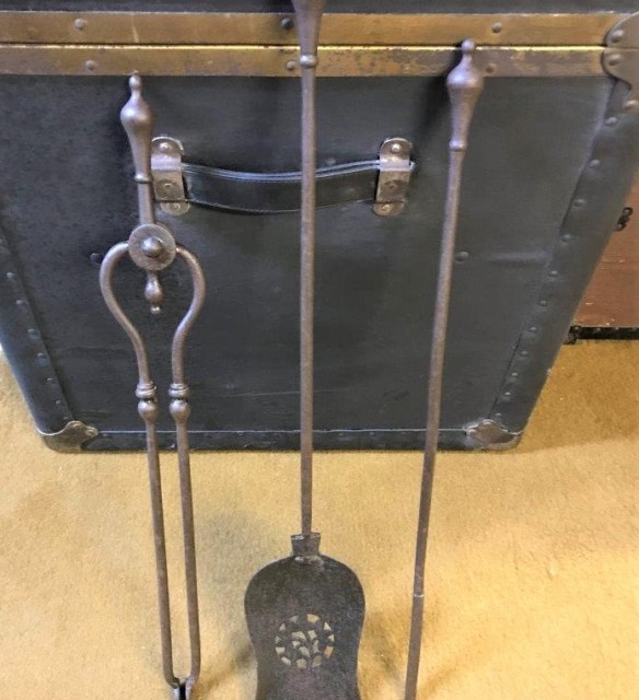 Antique Iron Fireside Companion Set