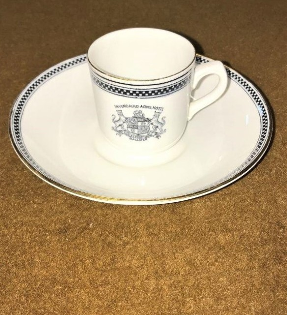 Coffee Cup & Saucer Set Invercauld Arms Ballater