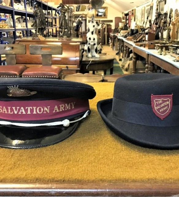 Pair of Vintage Salvation Army Hats