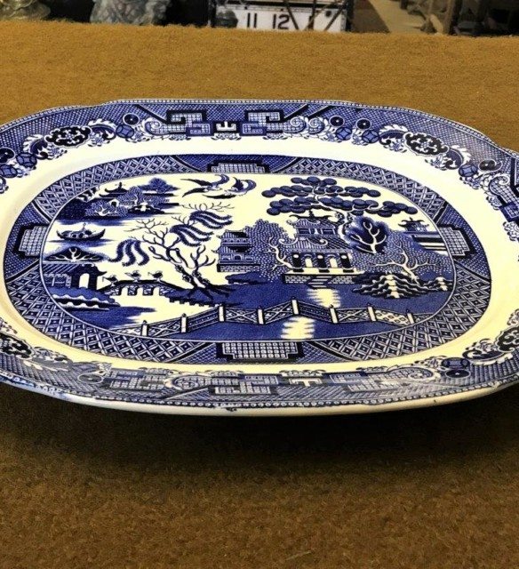 Willow Pattern Oval Platter