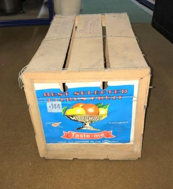 Vintage Morphou Orange Crate