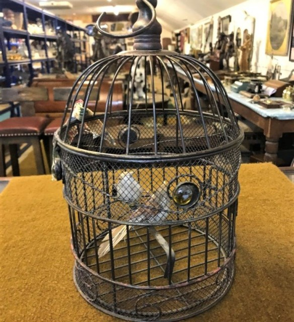 Ornamental Bird Cage with a Pair of Birds