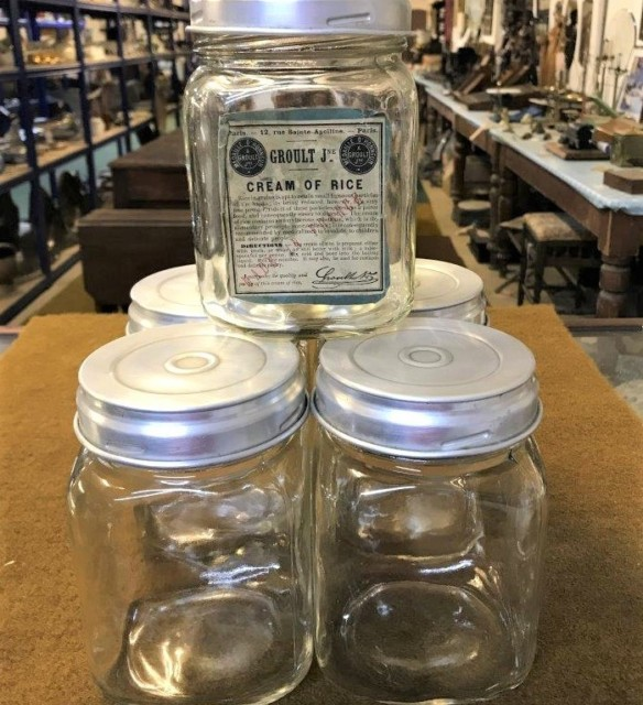 French Square Glass Preserve Jars