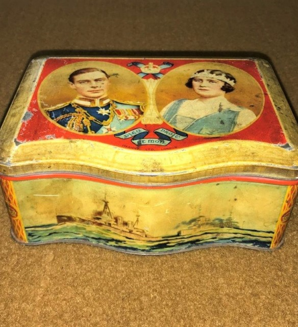George VI Coronation 1937 Peek, Frean & Co Biscuit Tin