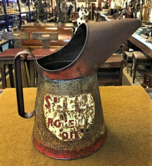Vintage Shell Rotella 1 Gallon Oil Can