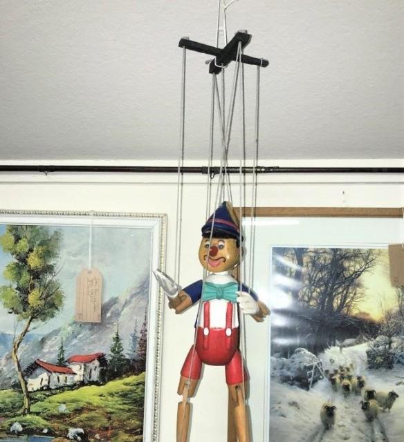 Vintage Pinocchio Marionette Strung Puppet