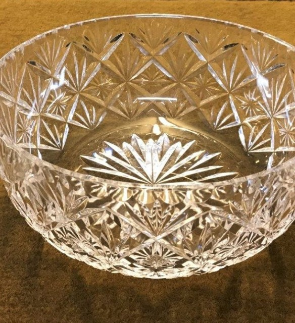 Royal Doulton Cut Glass Crystal Bowl